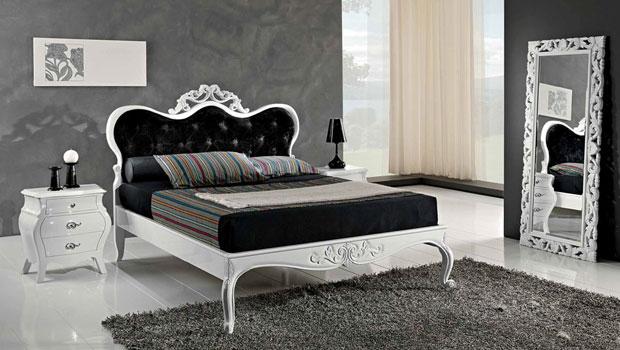 Дизайн на спалня с черно - бели мотиви