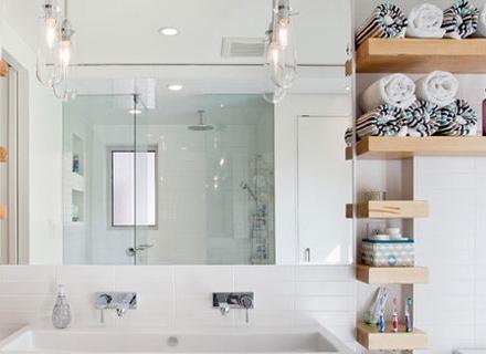 Идеи за места за съхранение в банята