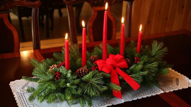 Коледна украса за масата