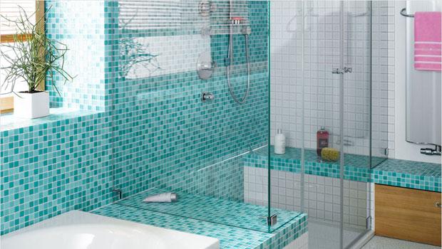 Идеи за мозайка в банята