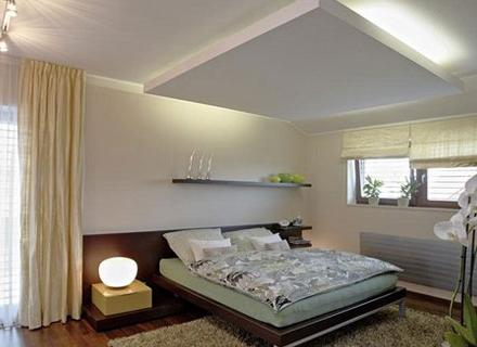 Спални с окачени тавани