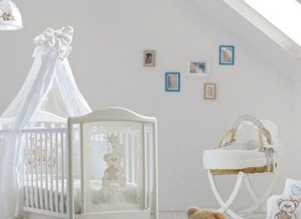 Дизайни на бебешки легла с балдахин