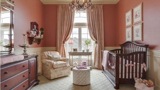 Нестандартни дизайни на бебешки стаи в шаби шик стил