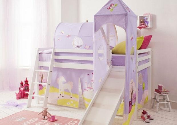 Легла с пързалка за истинска забава в детската стая Www