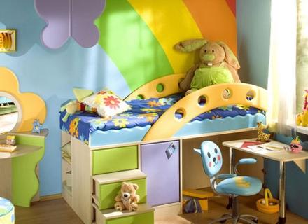 Двуетажни мебели пестят пространство в детската стая