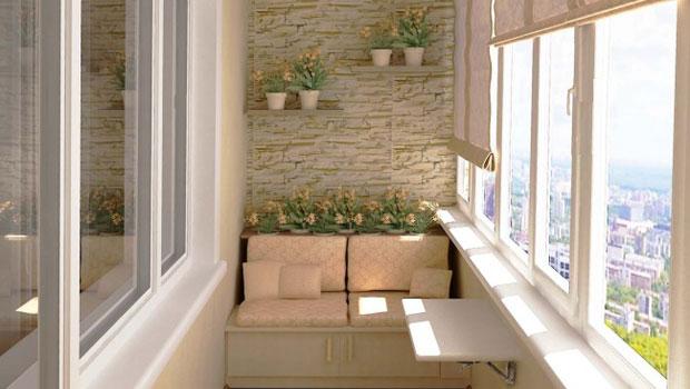 Дизайн на остъклен балкон