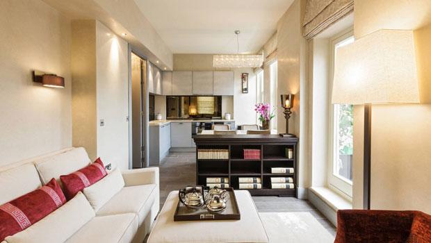 Малък апартамент с практичен интериор и открити пространства