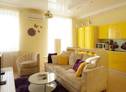 Жълто и лилаво - очаквано добра комбинация