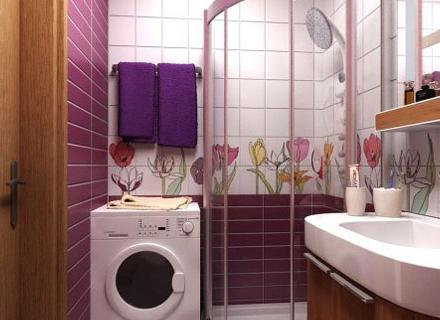 Идеи за поставяне на пералнята в банята
