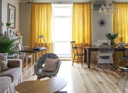 Интериорен дизайн на апартамент с площ 95 кв. м