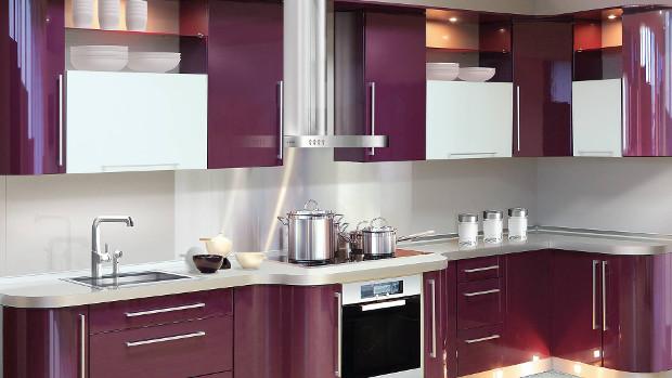 Модерни кухни в лилаво