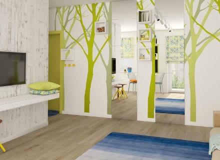 Малък, но просторен апартамент с весел и креативен дизайн