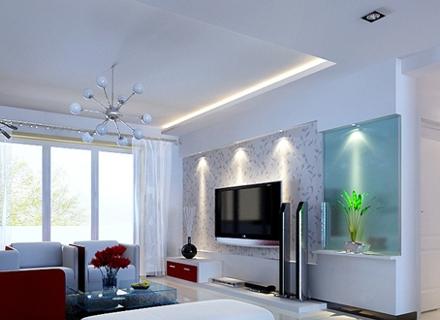 Модерен дом с LED осветление