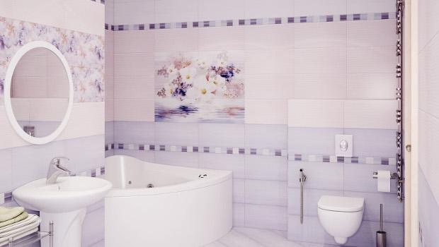 Нестандартни бани в лилаво