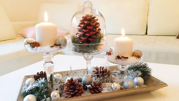 Коледна декорация в Шаби шик стил