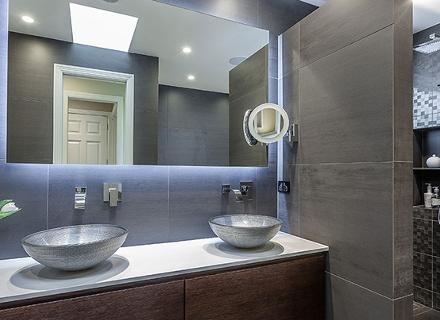 LED осветление в банята