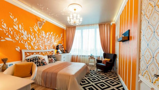 Идеи за спални в оранжево