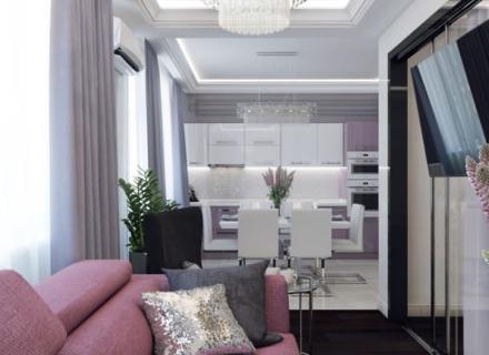 Лилава приказка в апартамент - 46 кв.м.