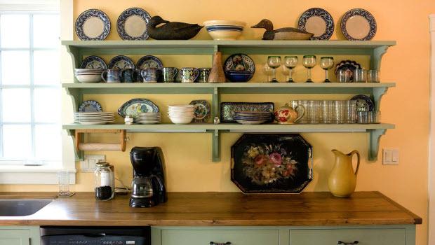 През 2017 остават актуални открите рафтове в кухнята