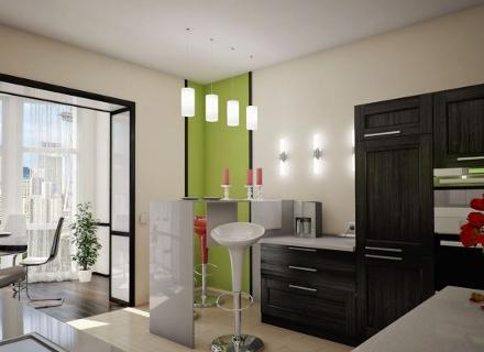Кухня с приобщен балкон