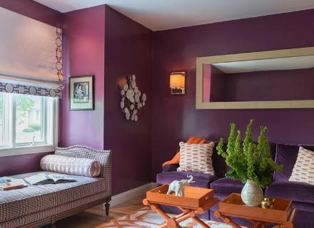 Загадъчен интериор в лилаво