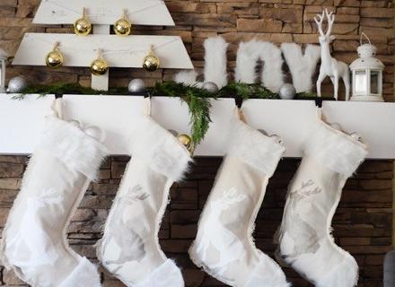 Идеи за коледна украса с чорапчета