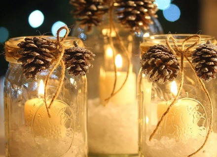 Коледна украса с буркани