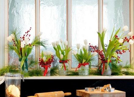 Коледна декорация за прозореца