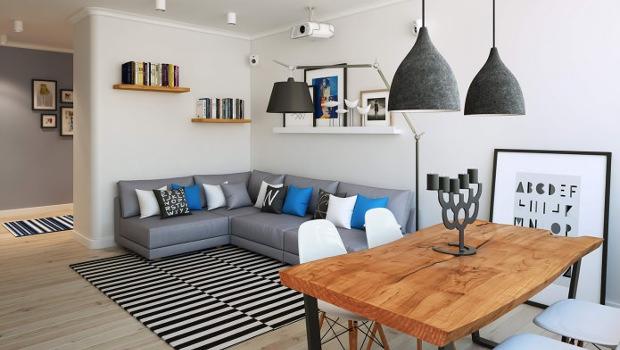 Модерен интериор на апартамент 90 кв.м.