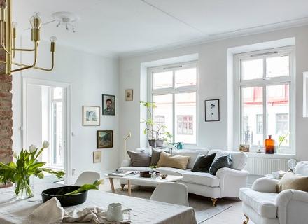 Кокетен апартамент в скандинавски стил