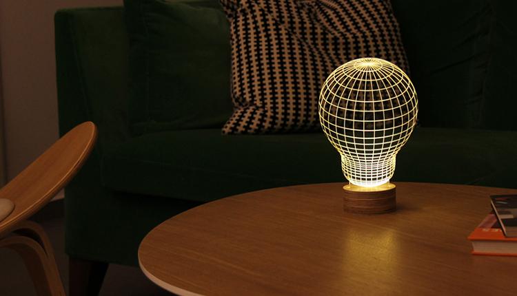 Модерно осветление и декорация на дома - лампи с 3D ефект