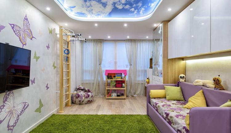 Окачен таван в детската стая