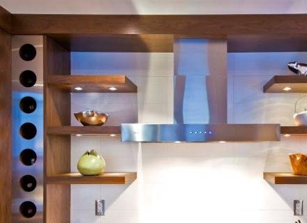 Открити рафтове в кухнята