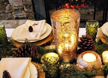 Коледна декорация на масата