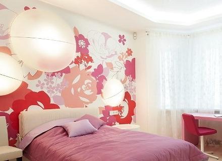 Розовият цвят в интериора