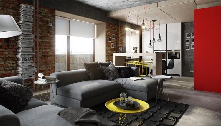 Проект на малко жилище в стил лофт