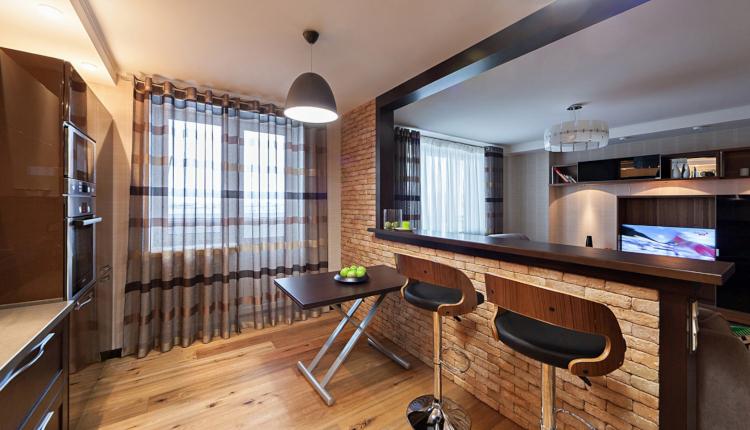 Идеи за декоративна преграда между кухнята и дневната