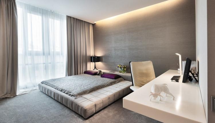 Идеи за окачен таван в спалнята