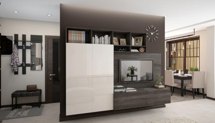 Модерен двустаен апартамент в цвят мляко с какао