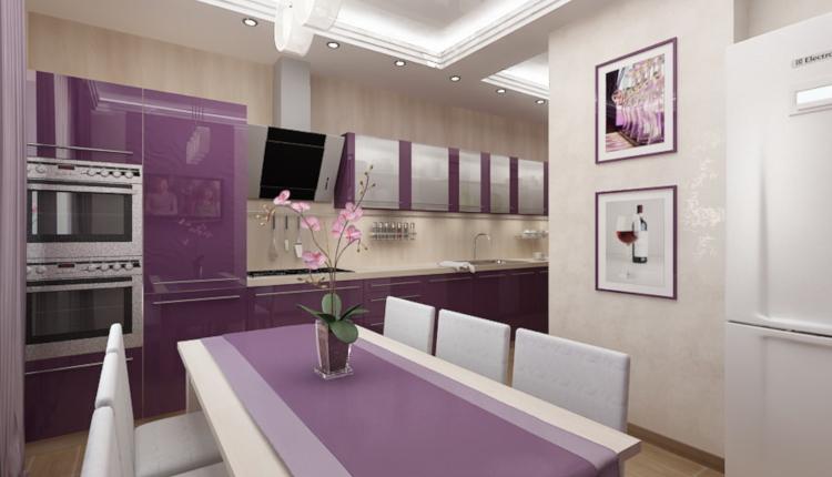 Кухни в лилаво - актуални тенденции
