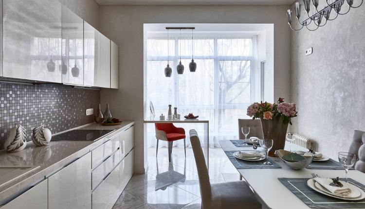 Планиране и обзавеждане на кухня с присвоен балкон