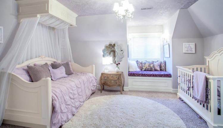 Детска стая в лилаво - забавна и загадъчна