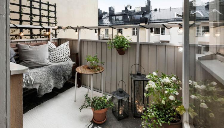 Балкон в скандинавски стил
