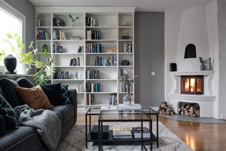 Интериор на скандинавски апартамент 75 кв.м.