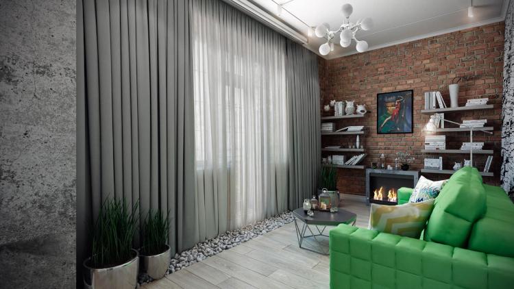Модерен двустаен апартамент с лофт мотиви