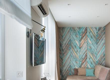 Едностайно жилище в пастелни тонове