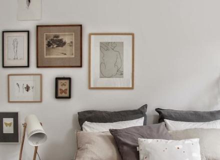 Спалня в скандинавски стил