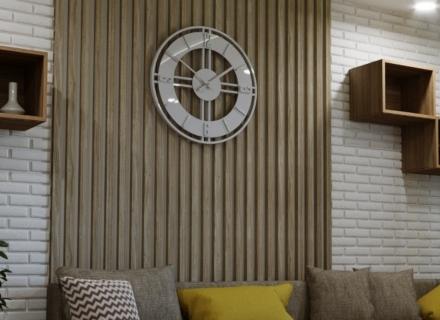 Модерен апартамент в неутрални тонове и ярки акценти