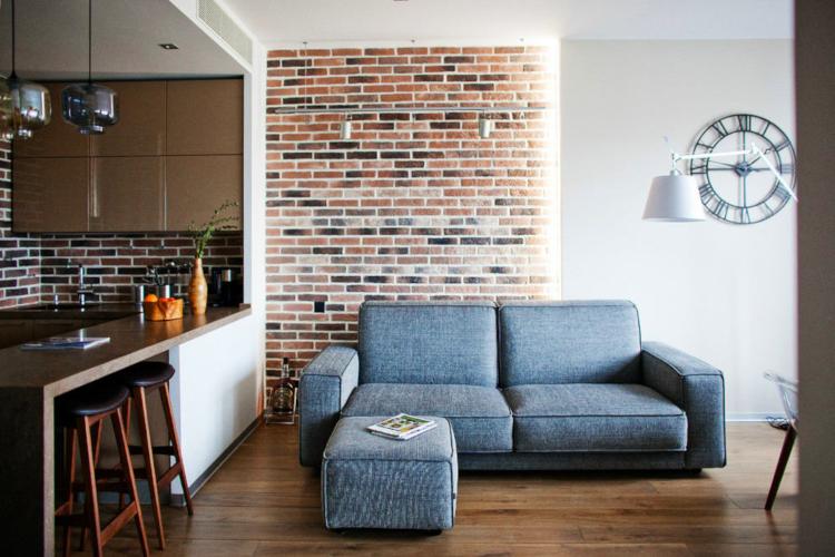Стилен апартамент с лофт акценти