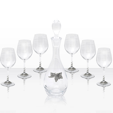 Гарафа и 6 чаши за вино